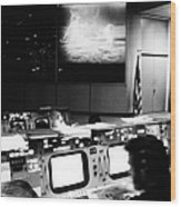 Apollo 11: Mission Control Wood Print by Granger