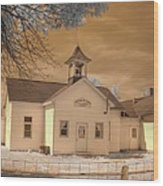Arcola Illinois School Wood Print by Jane Linders