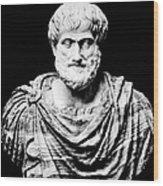 Aristotle, Ancient Greek Philosopher Wood Print by Omikron