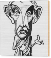 Aristotle, Caricature Wood Print by Gary Brown