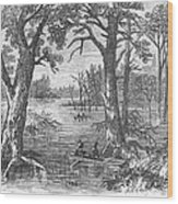 Arkansas: Sunken Lands Wood Print by Granger