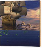 Arrival Of The Pilots Wood Print by Claude McCoy