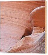 Artwork In Progress - Antelope Canyon Az Wood Print by Christine Till