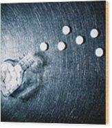 Aspirin Spilled From Bottle On Stainless Steel. Wood Print by Ballyscanlon