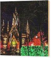 Assembly Hall Slc Christmas Wood Print by La Rae  Roberts