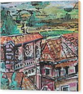 Assisi Italy Wood Print by Mindy Newman