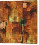 Autumn Abstracton Wood Print by Ann Powell
