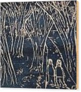 Autumn Night Hike Wood Print by Ward Smith