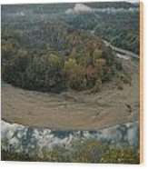Autumnal View Of One Of The Loops Wood Print by Randy Olson