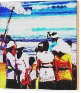 Balinese Beach Funeral  Wood Print by Funkpix Photo Hunter