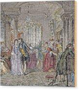 Ballroom, 1760 Wood Print by Granger