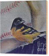 Baltimore Orioles Wood Print by AE Hansen