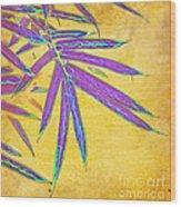 Bamboo Batik II Wood Print by Judi Bagwell