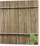 Bamboo Fence Wood Print by Don Mason