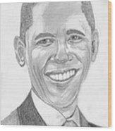 Barack Obama Wood Print by Tibi K