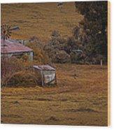 Barn Yard Wood Print by Tim Nichols