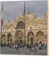 Basilica San Marco Wood Print by Bernard Jaubert