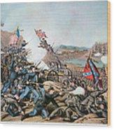 Battle Of Franklin, 1864 Wood Print by Granger