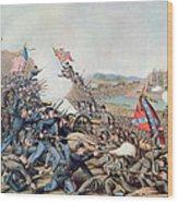Battle Of Franklin November 30th 1864 Wood Print by American School