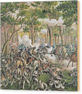 Battle Of The Wilderness May 1864 Wood Print by American School