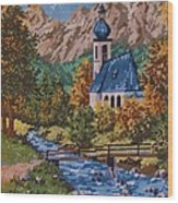 Bavarian Country Wood Print by M and L Creations Craft Boutique