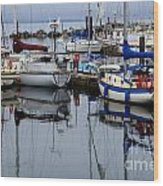 Beauty Of Boats Wood Print by Bob Christopher