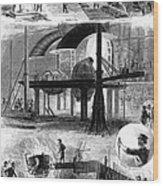Bessemer Steel, 1876 Wood Print by Granger
