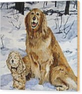 Best Friends Wood Print by Sandra Chase