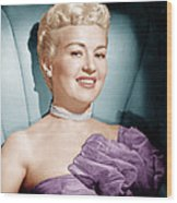 Betty Grable, Ca. 1950s Wood Print by Everett