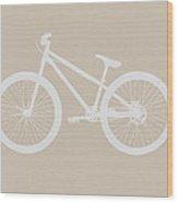Bicycle Brown Poster Wood Print by Naxart Studio