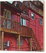 Big Red Wood Print by MJ Olsen