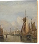 Billingsgate Wharf Wood Print by John Wilson Carmichael