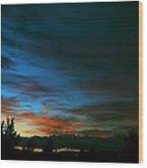 Black And Blue Wood Print by Kevin Bone
