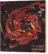 Black And Red Wood Print by Deborah Benoit
