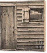 Blacksmith Shop Wood Print by Suzanne Gaff