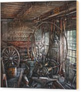 Blacksmith - That's A Lot Of Hoopla Wood Print by Mike Savad