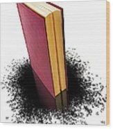Bleading Book Wood Print by Carlos Caetano