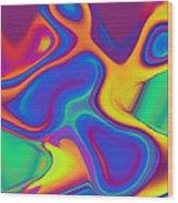 Blob Wood Print by Steve K