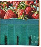 Blue Box Wood Print by Susan Herber