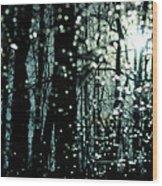Blue Burns The Twilight Wood Print by Rebecca Sherman