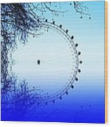 Blue Eye Wood Print by Sharon Lisa Clarke