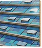 Blue Facade Wood Print by Carlos Caetano