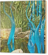 Blue Haze Wood Print by Jan Canavan