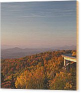 Blue Ridge Parkway Linn Cove Viaduct Wood Print by Dustin K Ryan