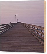 Boardwalk At Dawn Wood Print by David Buffington