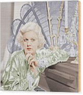 Bombshell, Jean Harlow, 1933 Wood Print by Everett
