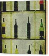 Bottles Wood Print by Alexander Bakumenko