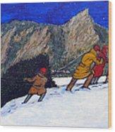 Boulder Christmas Wood Print by Tom Roderick