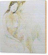 Boy And Girl Wood Print by Barbara Anna Cichocka