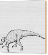 Brachylophosaurus - Dinosaur Wood Print by Karl Addison